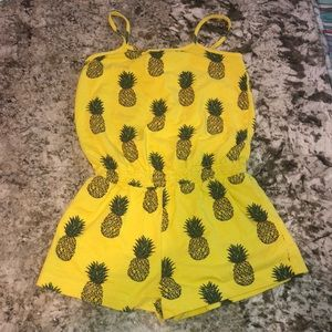 Baby Gap pineapple print romper
